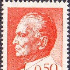 Sellos: FRANCOBOLLO - YUGOSLAVIA - JOSIP BROZ TITO (1892-1980) PRESIDENT - 0,50 D - 1968 -USATO. Lote 237775565