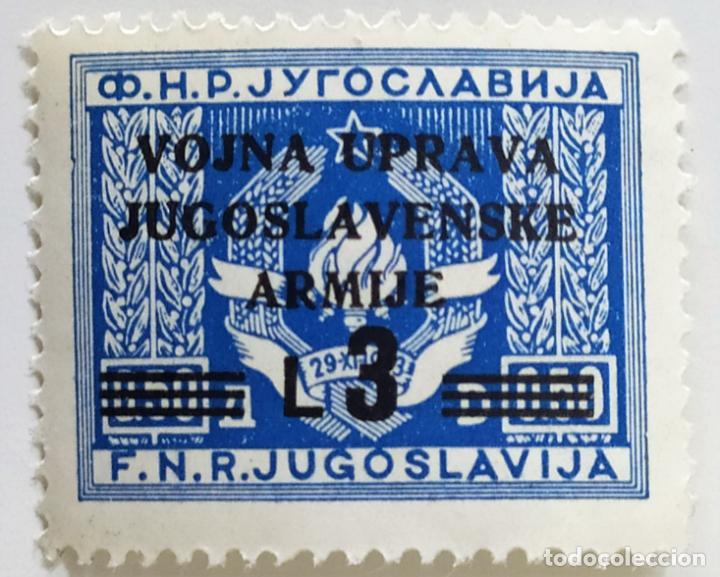 SELLO DE ISTRIA OCUPACION YUGOESLAVA 3 L - 1947 - NUEVO SIN SEÑAL DE FIJASELLOS (Sellos - Extranjero - Europa - Yugoslavia)