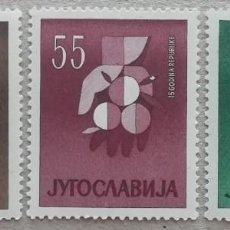 Sellos: 1966. YUGOSLAVIA. 832, 834, 835. CENTENARIO DEL TEATRO NACIONAL, ONU. NUEVO.. Lote 243778345
