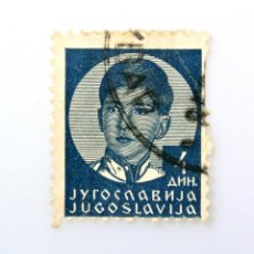 Sellos: SELLO POSTAL YUGOSLAVIA 1936 ,4 DIN, REY PETER II,USADO. Lote 244548060