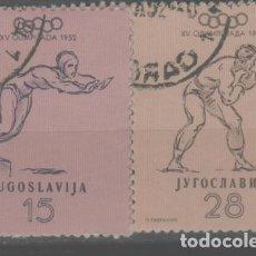 Sellos: LOTE U-SELLOS YUGOSLAVIA AÑO 1952 DEPORTES. Lote 294055878