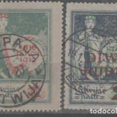 Sellos: LOTE U-SELLOS LETTONIA AÑO 1920-21. Lote 245076025