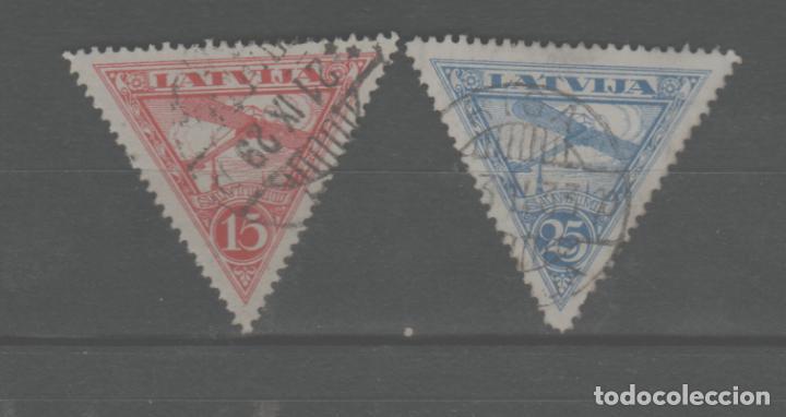 LOTE U-SELLOS LETONIA CORREO AEREO (Sellos - Extranjero - Europa - Yugoslavia)