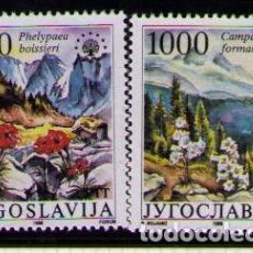 Sellos: YUGOSLAVIA 1988 - FLORES - YVERT Nº 2165-2166**. Lote 262538630
