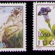 Sellos: YUGOSLAVIA 1983 - FLORES Y FAUNA - YVERT Nº 1883-1884**. Lote 262539175