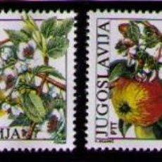 Sellos: YUGOSLAVIA 1987 - FLORES Y FRUTOS - YVERT Nº 2100-2103**. Lote 262541250