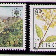 Sellos: YUGOSLAVIA 1981 - FLORA Y FAUNA - YVERT Nº 1794-1795**. Lote 262542230
