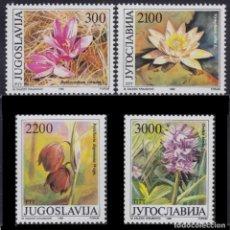 Sellos: YUGOSLAVIA 1989- FLORES - YVERT Nº 2216-2219**. Lote 262544460