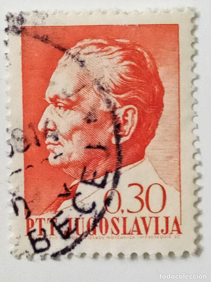 SELLO DE YUGOESLAVIA 0,30 D - 1966 - TITO - USADO SIN SEÑAL DE FIJASELLOS (Sellos - Extranjero - Europa - Yugoslavia)