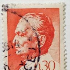 Sellos: SELLO DE YUGOESLAVIA 0,30 D - 1966 - TITO - USADO SIN SEÑAL DE FIJASELLOS. Lote 268604644