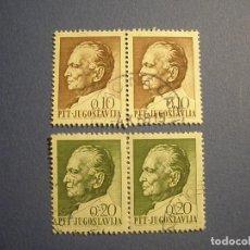 Sellos: YUGOSLAVIA - JOSIP BROZ TITO (EX-PRESIDENTE DE YUGOSLAVIA) - 0,10 Y 0,20.. Lote 270638813