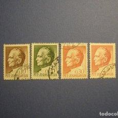 Sellos: YUGOSLAVIA - JOSIP BROZ TITO (EX-PRESIDENTE DE YUGOSLAVIA) - 0,10-0,20-0,30-0,50.. Lote 270638948