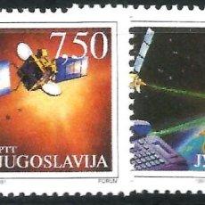 Sellos: EUROPA C.E.P.T. 1991 - EUROPA Y EL ESPACIO - YOGOSLAVIA. Lote 275622663