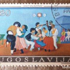 Sellos: SELLO DE YUGOESLAVIA 0,80 - 1974 - JANO KNJAZOVIC - USADO. Lote 278490378