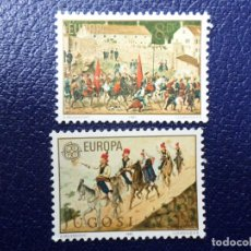 Sellos: -YUGOSLAVIA, 1981, EUROPA, FOLCLORE, YVERT 1769/70. Lote 289666013