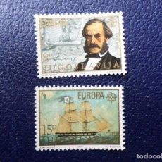 Sellos: -YUGOSLAVIA, 1982, EUROPA, HECHOS HISTORICOS, YVERT 1804/5. Lote 289666168