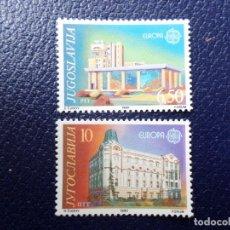 Sellos: -YUGOSLAVIA, 1990, EUROPA, ESTABLECIMIENTOS POSTALES, YVERT 2283/4. Lote 289666778