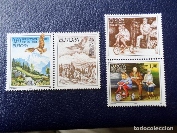 -YUGOSLAVIA,1995, EUROPA, PAZ Y LIBERTAD, YVERT 2572/73 (Sellos - Extranjero - Europa - Yugoslavia)