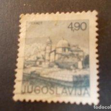 Sellos: SELLO YUGOSLAVIA. IGLESIA DE NUESTRA SEÑORA DE LAS ROCAS. PERAST 4,90 1976. Lote 291039173
