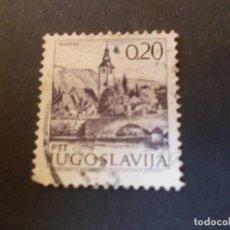 Sellos: SELLO YUGOSLAVIA. TURISMO IGLESIA DE JUAN BAUTISTA Y PUENTE EN LAGO BOHINJ 1973. Lote 291042908