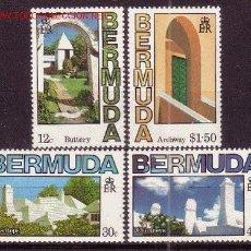Sellos: BERMUDA 451/54** - AÑO 1985 - ARQUITECTURA TÍPICA. Lote 24885716