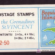 Sellos: SAN VICENTE GRANADINAS CARNET 18*** - AÑO 1974 - MAPAS DE LAS ISLAS. Lote 7622164