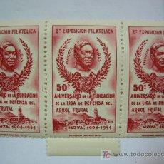 Sellos: LOTE DE TRES VIÑETAS 50ª ANIVERSARIO MOYA AÑO 1.904 1.954 2ª EXPOSICION FILATELICA. Lote 10111749