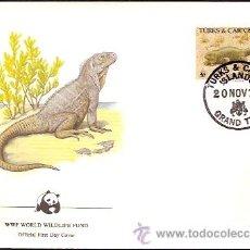 Sellos: WWF SERIE COMPLETA SOBRES OFICIALES PRIMER DIA TURKS Y CAICOS. Lote 8970879