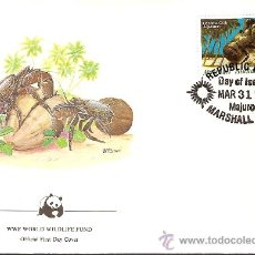 Sellos: WWF SERIE COMPLETA SOBRES OFICIALES PRIMER DIA ISLAS MARSHALL. Lote 27450913