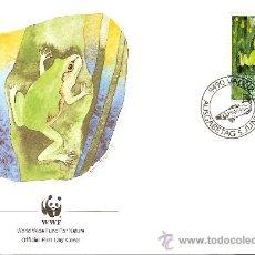Sellos: WWF SERIE COMPLETA SOBRES OFICIALES PRIMER DIA LIECHTENSTEIN. Lote 8981449