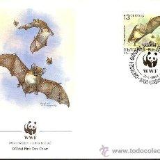 Sellos: WWF SERIE COMPLETA SOBRES OFICIALES PRIMER DIA BULGARIA. Lote 8981537