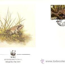 Sellos: WWF SERIE COMPLETA SOBRES OFICIALES PRIMER DIA JERSEY. Lote 8981624
