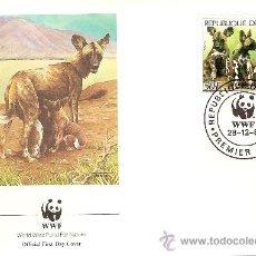 Sellos: WWF SERIE COMPLETA SOBRES OFICIALES PRIMER DIA GUINEA. Lote 27450930