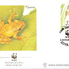 Sellos: WWF SERIE COMPLETA SOBRES OFICIALES PRIMER DIA FIJI. Lote 8981677