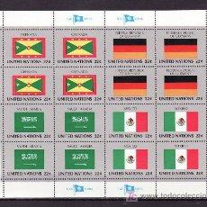 Sellos: NN.UU. NUEVA YORK 440/55 MINIPLIEGO SIN CHARNELA, BANDERAS DE LOS ESTADOS MIEMBROS. Lote 11127153
