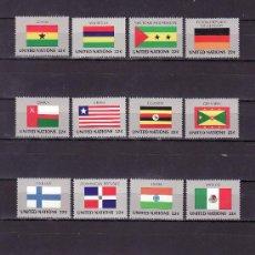 Sellos: NN.UU. NUEVA YORK 440/55 SIN CHARNELA, BANDERAS DE LOS ESTADOS MIEMBROS. Lote 11405566
