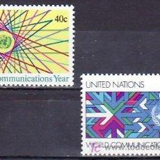 Sellos: NN.UU. NUEVA YORK 383/4 SIN CHARNELA, AÑO MUNDIAL DE LAS COMUNICACIONES. Lote 10296711