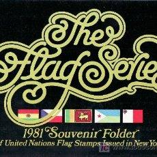 Sellos: NN.UU. NUEVA YORK 341/56 EN CARPETA SIN CHARNELA, BANDERAS DE LOS ESTADOS MIEMBROS. Lote 11344211