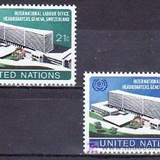 Sellos: NN.UU. NUEVA YORK 237/8 SIN CHARNELA, NUEVA SEDE DEL DESPACHO INTERNACIONAL DEL TRABAJO EN GINEBRA. Lote 10299613
