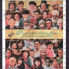 Sellos: NN.UU. VIENA 210/21 SIN CHARNELA, RAZAS, 50º ANIVERSARIO DE LAS NN.UU.. Lote 11282757