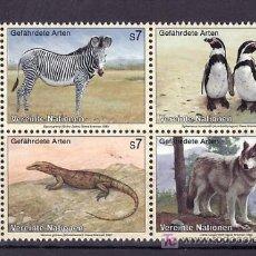 Sellos: NN.UU. VIENA 159/62 SIN CHARNELA, PROTECCION DE LA NATURALEZA, ESPECIES ANIMAL EN AMENAZAS DE . Lote 11291859