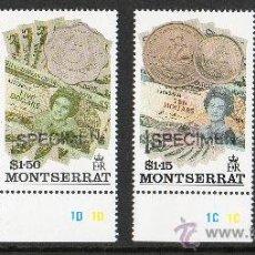 Sellos: MONTSERRAT AÑO 1993 MI 813/15*** MONEDAS Y BILLETES - NUMISMÁTICA. Lote 26604273