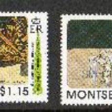 Sellos: MONTSERRAT AÑO 1989 MI 757/60*** 20 ANVº HOMBRE SOBRE LA LUNA - ASTRONÁUTICA. Lote 27458175