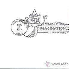 Sellos: ESTADOS UNIDOS. 2008. PRIMER DIA CIRCULACION. EL ARTE DE WALT DISNEY. MICKEY MOUSE. HADA. Lote 15042340