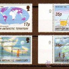 Sellos: B.A.T. ANTÁRTIDA BRITANICA AÑO 1996 YV 273/76*** INVESTIGACIÓN Y CIÉNCIA ANTÁRTICA - POLAR - BARCOS. Lote 26288214