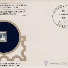Sellos: MINI LINGOTE DE PLATA CON SOBRE, SELLO Y MATASELLO.- DIJIBUTI .- OLIMPIADA.- AÑO 1980 FILATELIA. Lote 21088265