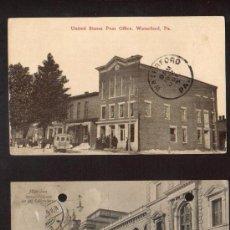 Sellos: LOTE DE 2 BONITAS Y ANTIGUAS POSTALES CON MATASELLO UNA DE 1910 Y 1912. Lote 26697287