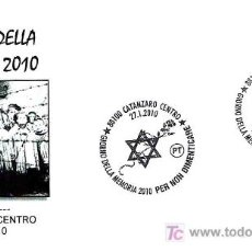 Sellos: MATASELLOS DE JUDAISMO - DIA DE LA MEMORIA 2010 - CATANZARO, ITALIA, 2010. Lote 176089564