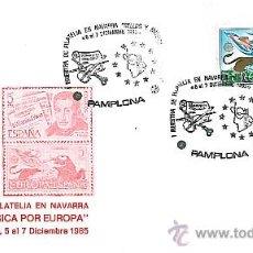 Sellos: SOBRE DE MÚSICA - PRIMERA MUESTRA DE FILATELIA EN NAVARRA. Lote 26464859