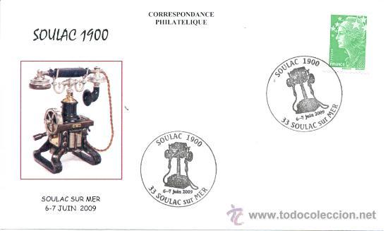 FRANCIA 2009. MATASELLO ESPECIAL. TELEFONO SOULAC 1900 (Sellos - Temáticas - Varias)